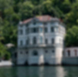 Lake Como villa, art commission by Freitas