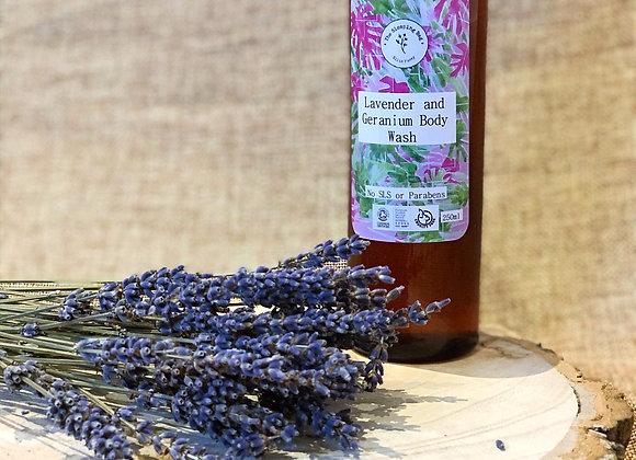 Lavender and Geranium Body Wash