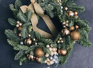 Рождественский венок ручной работы от Craft & Flowers