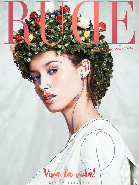 Kristen Wicce Cover Editorial Synthetic Flower to Rude Magazine