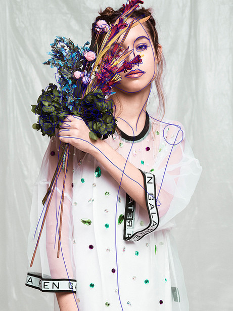 Kristen Wicce Editorial Synthetic Flower to Rude Magazine