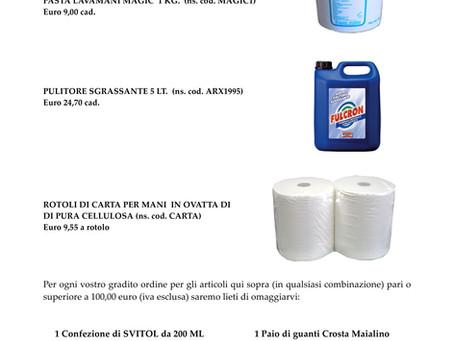 Prodotti per la pulizia industriale (PROMO 10/16)