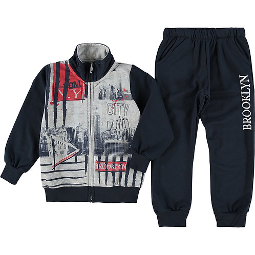 Two Piece Blue & Grey Tracksuit