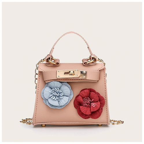 Girls flower pink bag