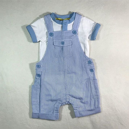 baby boy blue 2 pieces overall set