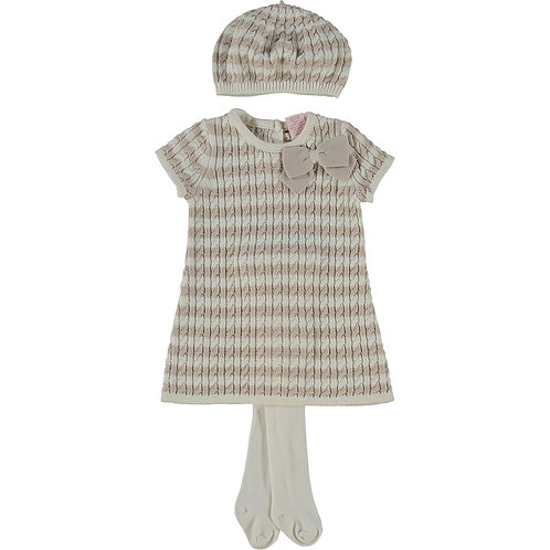 MAGGIE & ZOE Three Piece Oatmeal Dress, hat and tight