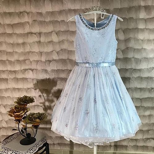 couture princess blue girl dress