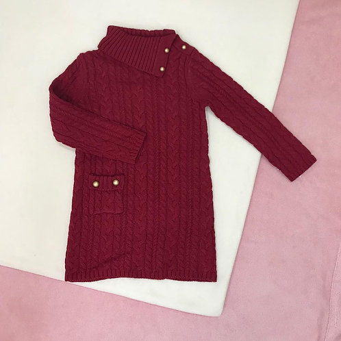 Lilly Wicket Crimson Long Sleeve Knitted Dress