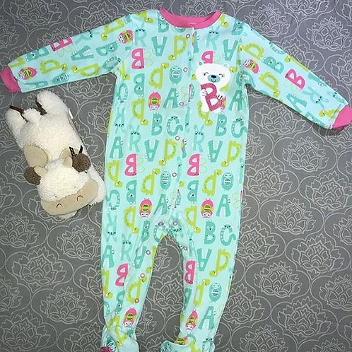 baby girl ABC bodysuit green