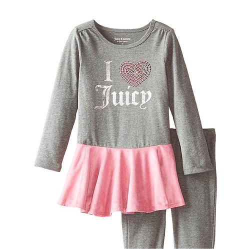 Juicy Couture Pink & Gray Tunic set