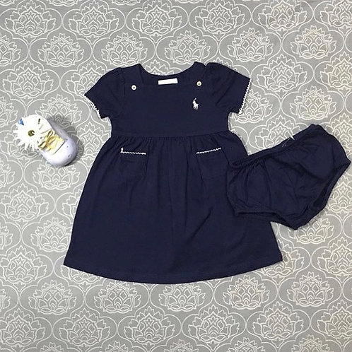 navy baby girl dress