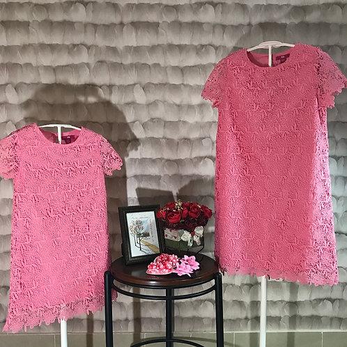Pink tunic girl