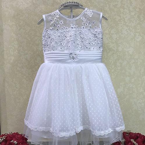 White lace girls dress