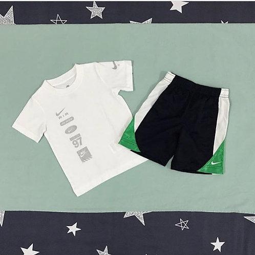 Nike white navy boys set