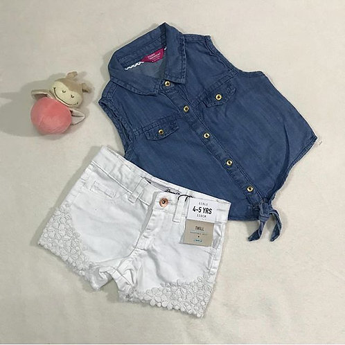 girls blue short set