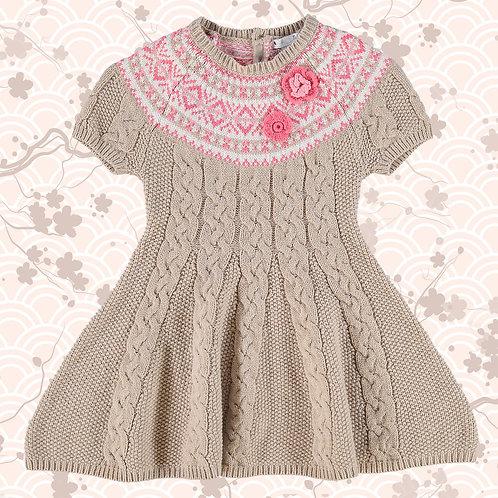 NULA BUG Oatmeal Cable Knit Dress