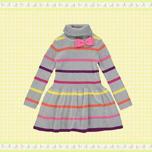 Grey High Neck Jumper Dress