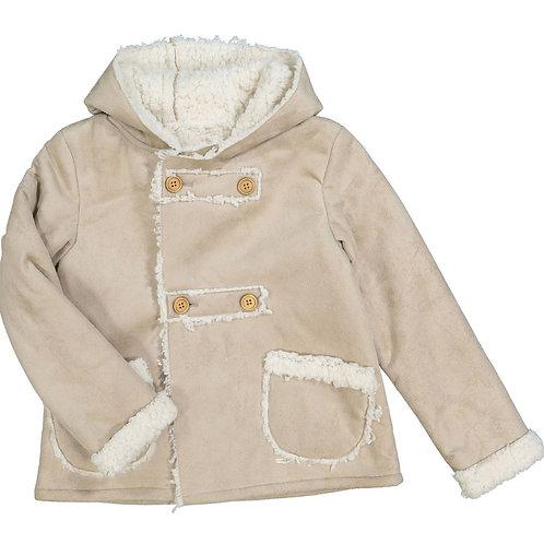 Minoti Beige Fleece Lined Jacket