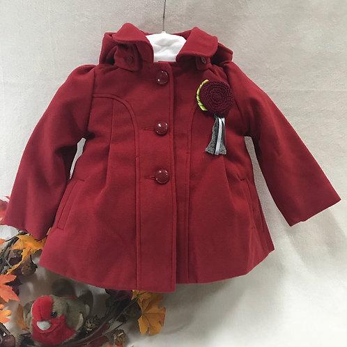 CHLOE LOUISE Red Hooded Coat