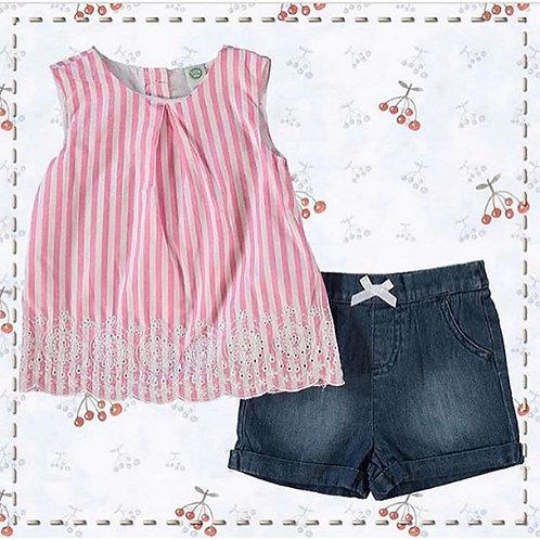 Baby girl little me pink set