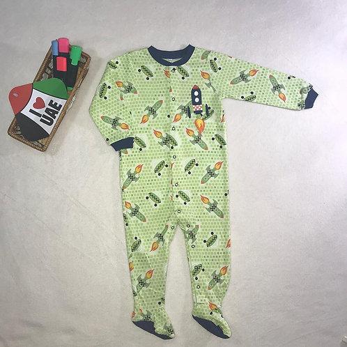 baby boy rocket bodysuit green