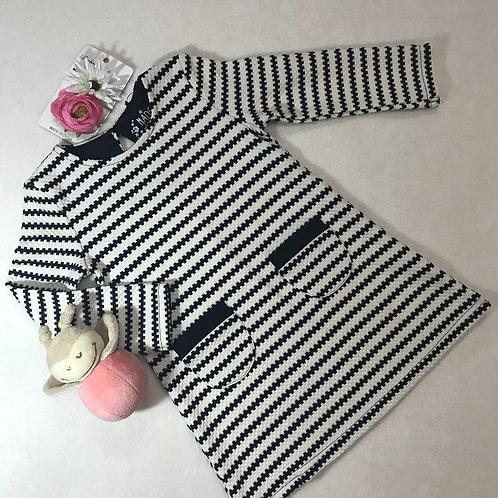 navy strips dress