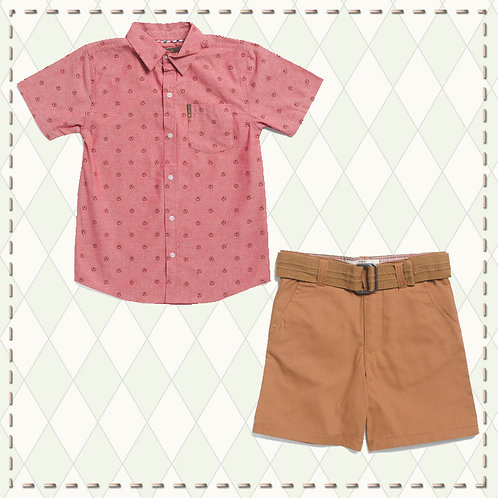 BEN SHERMAN red Shirt boys set