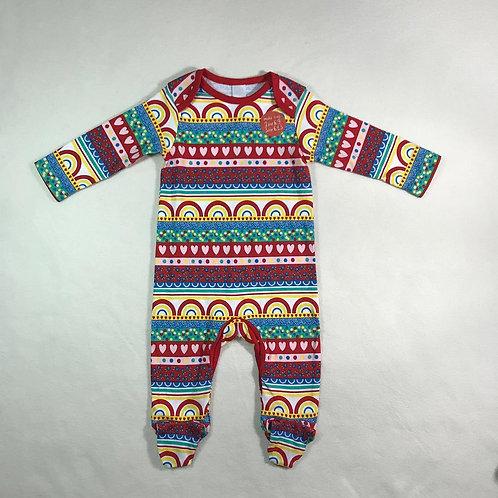 baby girl multi color bodysuit