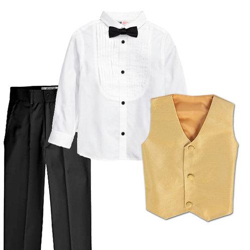 Gold Boy's 4 pieces Suit