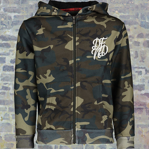 DFND Khaki Camouflage Zip Through Hoodie & pants