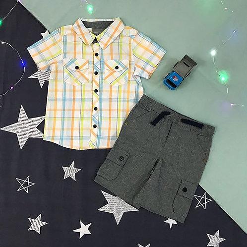 boys short set grey