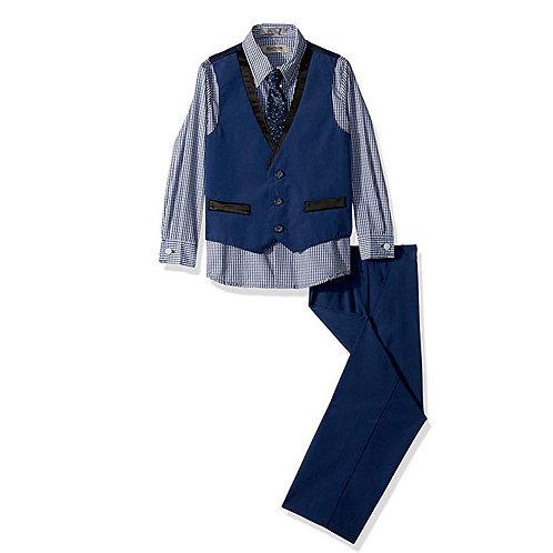 Kenneth Cole Boys 4 Piece Dressy Vest Set