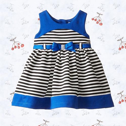 blue sweet heart rose girl dress