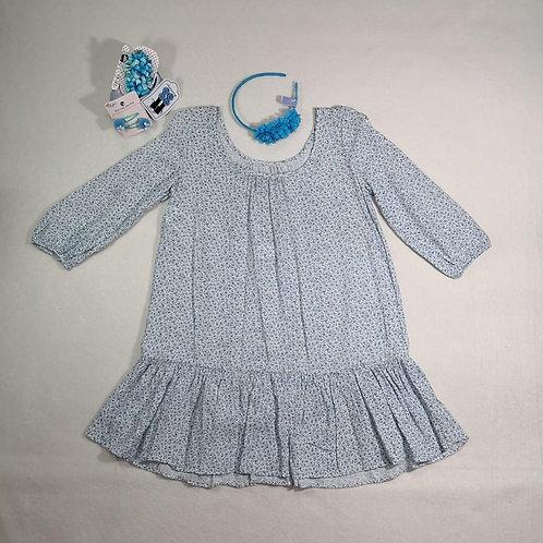 Ralph Lauren cream blue dress