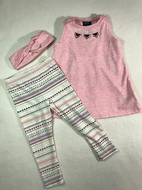 pink tunic baby girl set