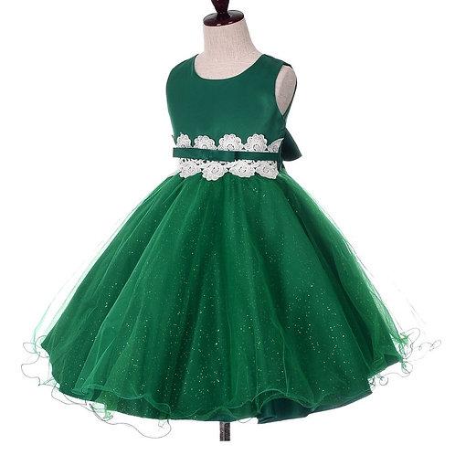 Dressy Daisy Girls Lace Tulle Wedding dress