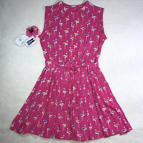 Malildas Wardrobe pink flamingo dress