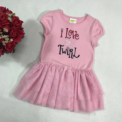 I love to twirl pink dress