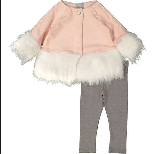 Tahari Baby Pink & Grey Two Piece Set