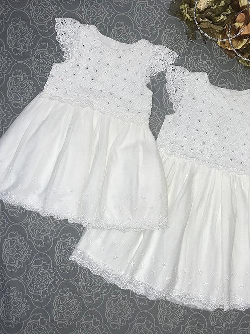 little girl ivory dress