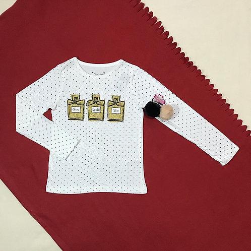 Gold perfume t shirt