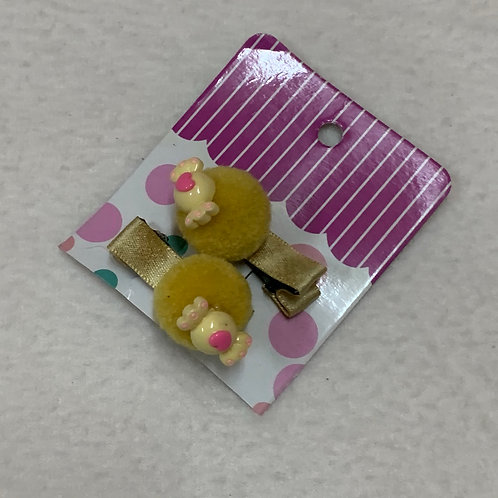 Baby girl yellow clips