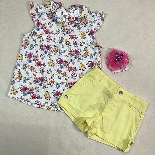 yellow flower baby girl set
