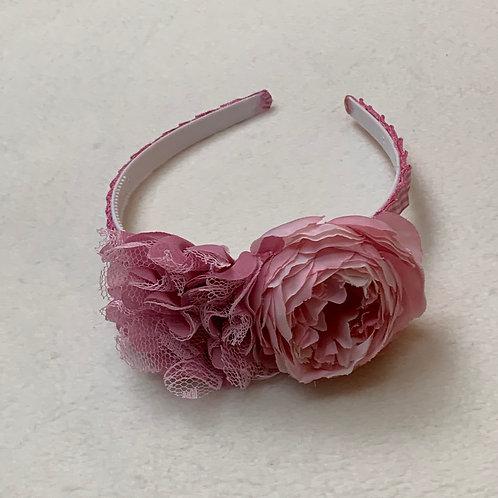 Girls Flower Headband pink