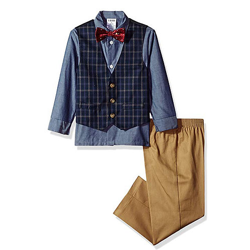 IZOD Little Boys 4 Piece Set Dark Blue