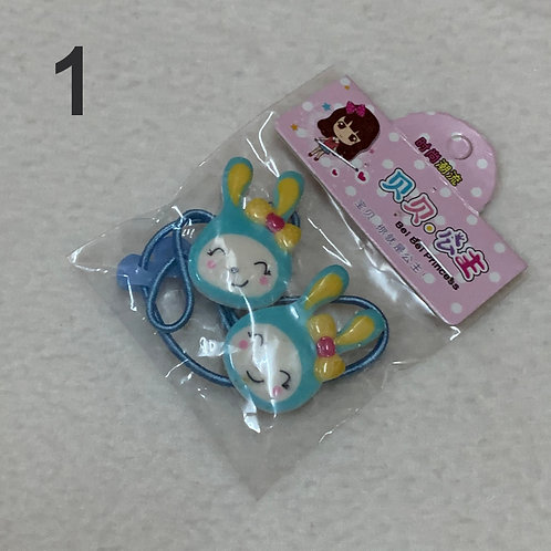 Girls hair ties rabbits