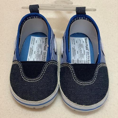 Blue denim baby shoes