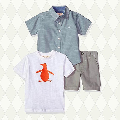 boys 3 pieces short set