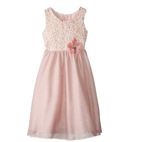 Rare Editions blush party dress