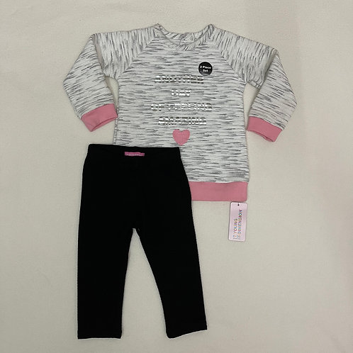 young dimension gray baby girl set